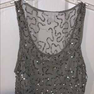 Charlotte Russe, grey and silver dress